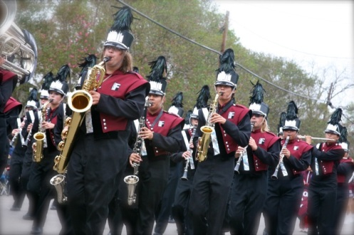 The mighty Floresville Tiger Band!