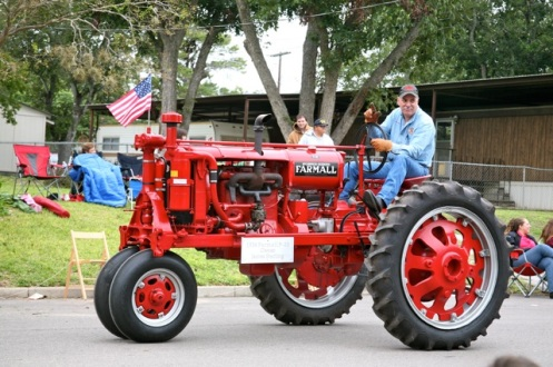 The restored tractors are fun to see...